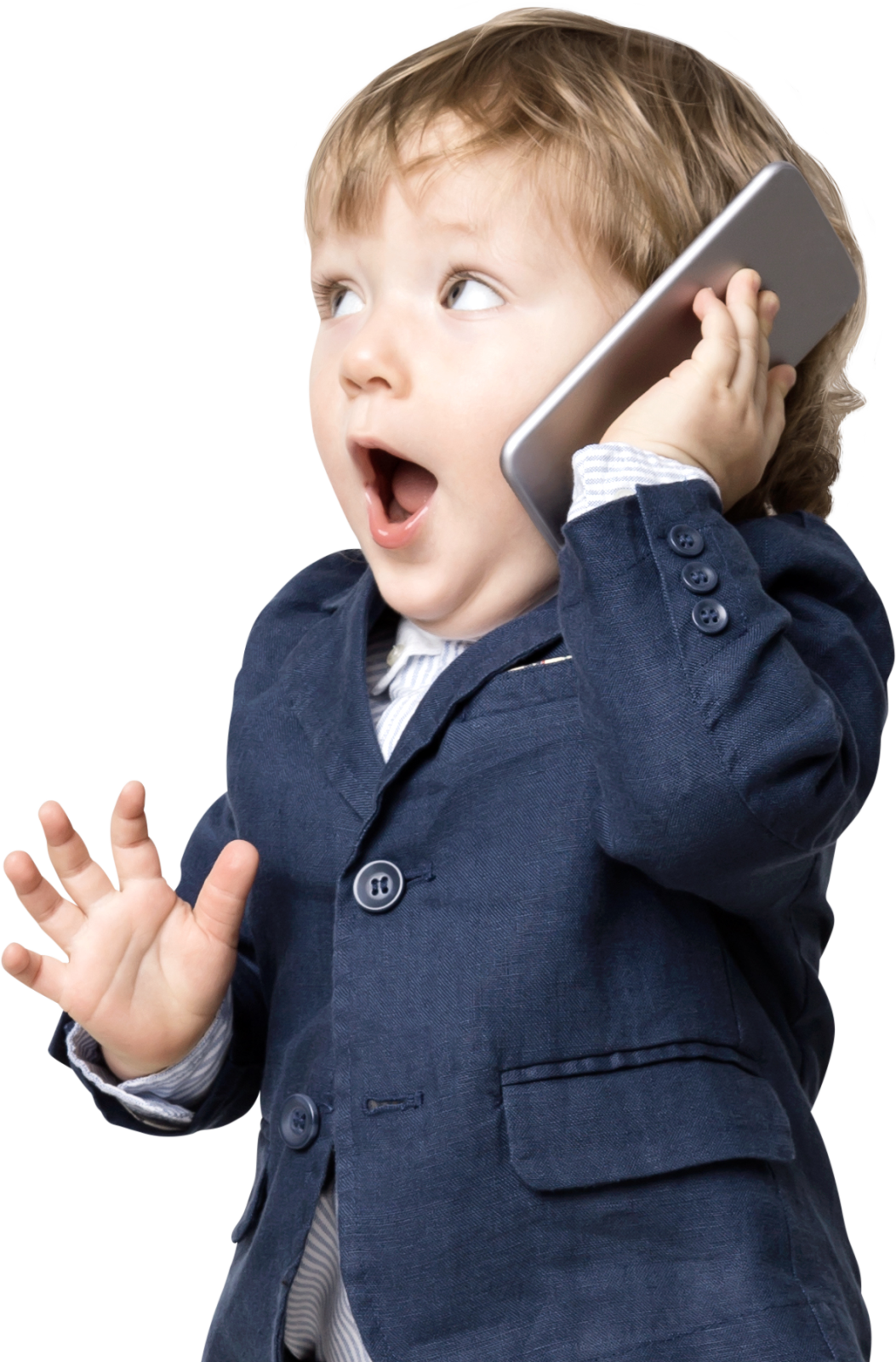 Baby speaking on the phone
